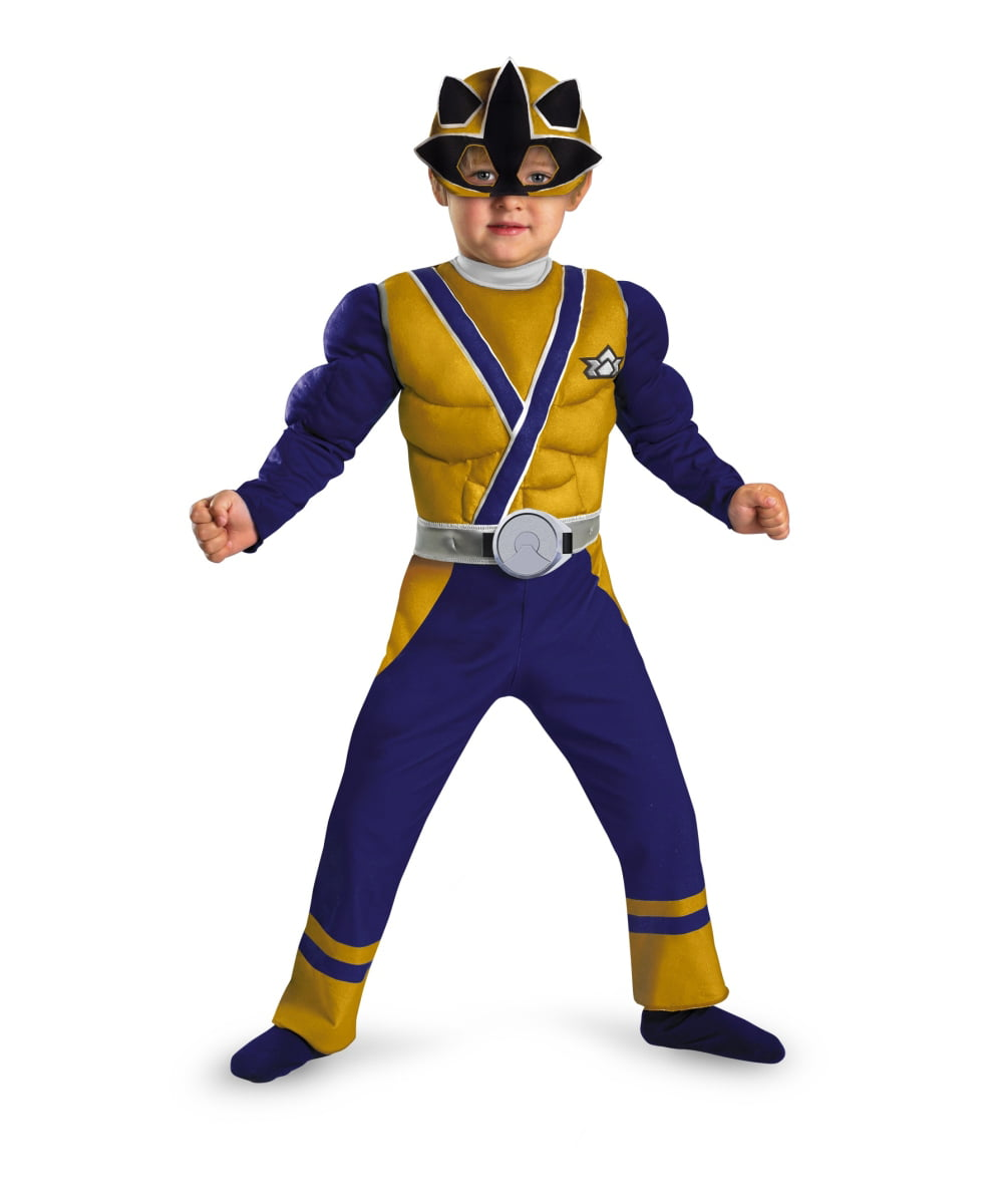 Power Ranger Samurai Gold Ranger Muscle Toddler Boys Costume - Walmart.com  sc 1 st  Walmart & Power Ranger Samurai Gold Ranger Muscle Toddler Boys Costume ...