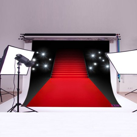 MOHome Polyster 7x5ft Hollywood Them Red Carpet Photo Backdrop photography Backdrop Background studio - Hollywood Them