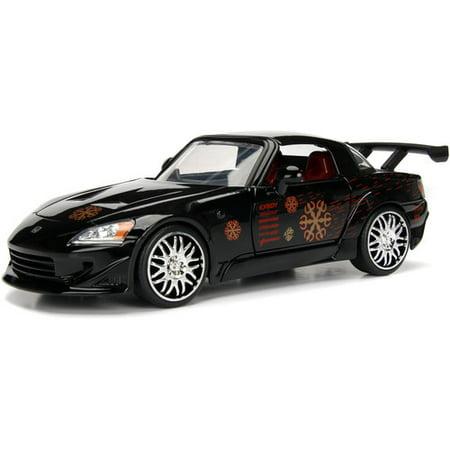 Jada Toys Fast & Furious 2001 Honda S2000 HardTop Die-Cast Vehicle 1:24 Scale Glossy Black