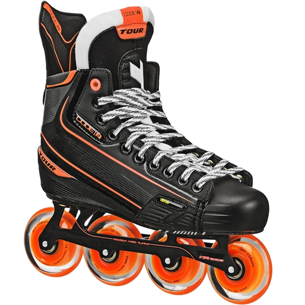 Tour Hockey Mens CODE 2 Sr Inline Hockey Skate, Black, 7 by Tour Hockey
