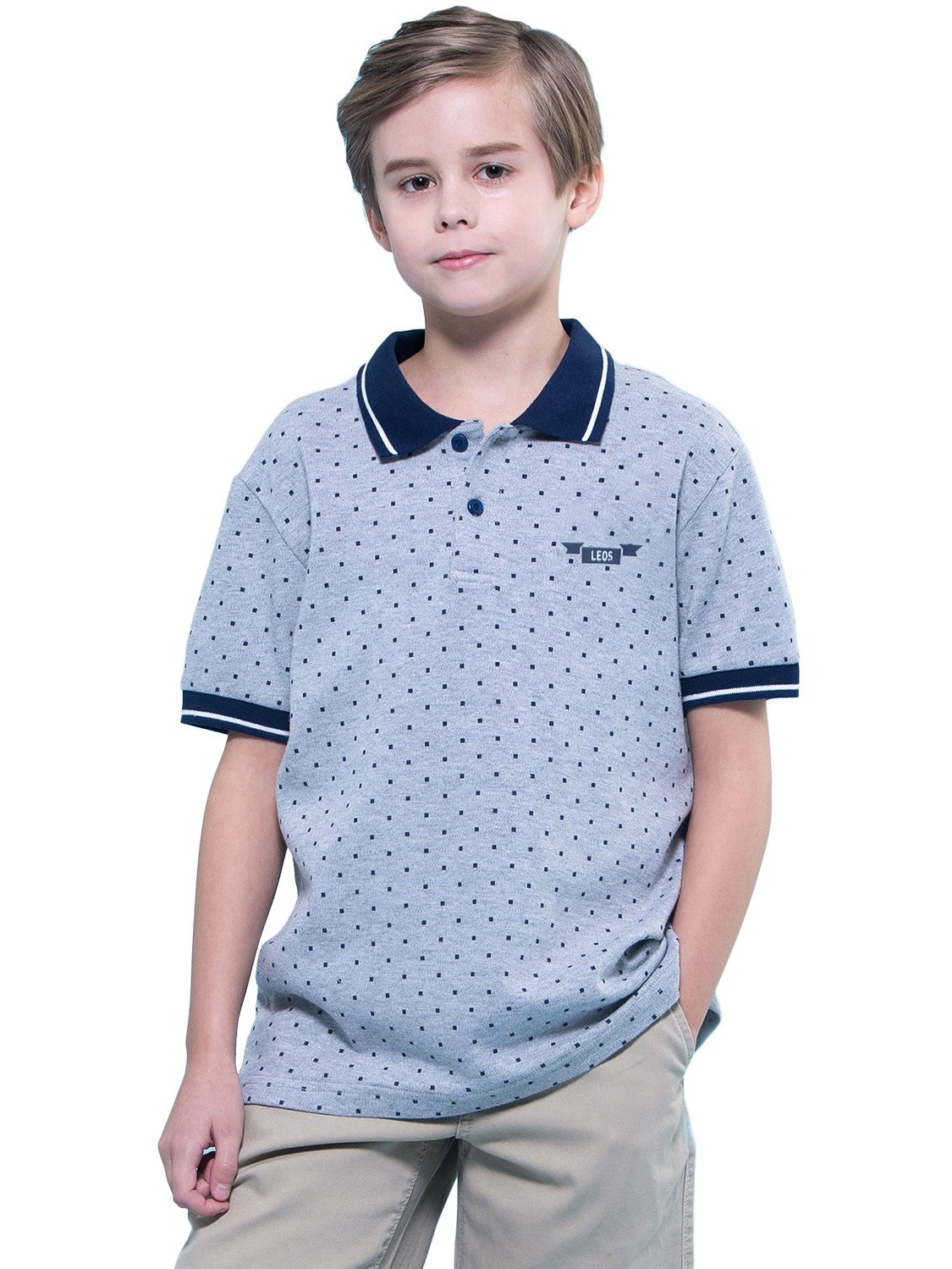 Leo&Lily Boys' Kids' Casual Sport Cardigan Polo Shirts