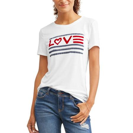 2f5f9d4ef Ev1 From Ellen Degeneres - Love Flag Crew Neck Graphic Tee Women's ...