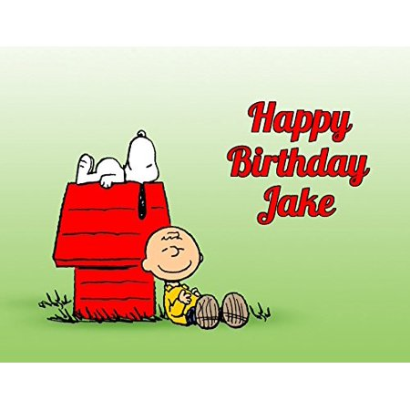Charlie Brown Peanuts Snoopy Edible Image Photo Cake Topper Sheet Personalized Custom Customized Birthday Party - 1/4 Sheet - 74211
