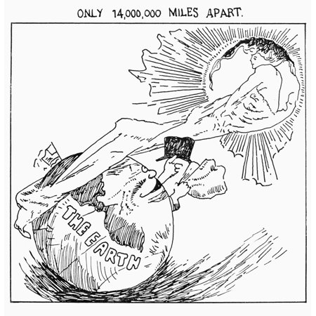 HalleyS Comet 1910 Ncartoon From The Front Page Of The New
