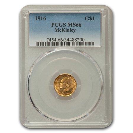1916 Gold $1.00 McKinley MS-66 PCGS