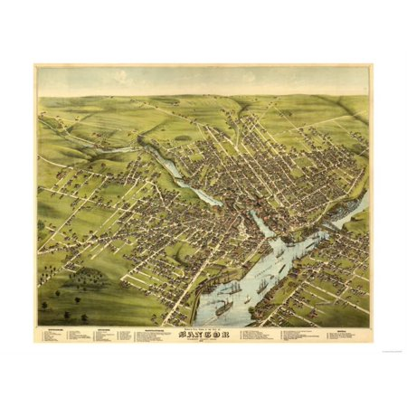 Bangor, Maine - Panoramic Map Print Wall Art By Lantern Press](Party City Bangor Maine)
