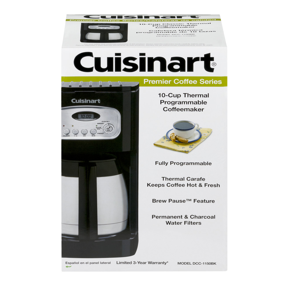 Cuisinart 10-Cup Programmable Thermal Coffeemaker, Black DCC-1150BK