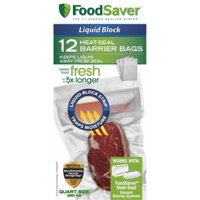 FoodSaver 1-Quart Liquid Block Heat-Seal Bags, 12 Count