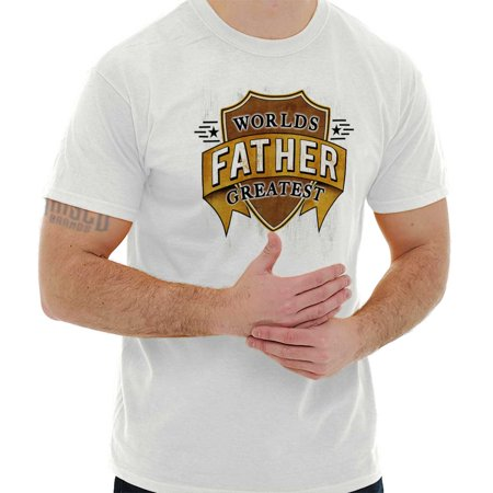 World Greatest Father Shield Dads Day Gym T Shirt (Top Gym Equipment Brands In The World)