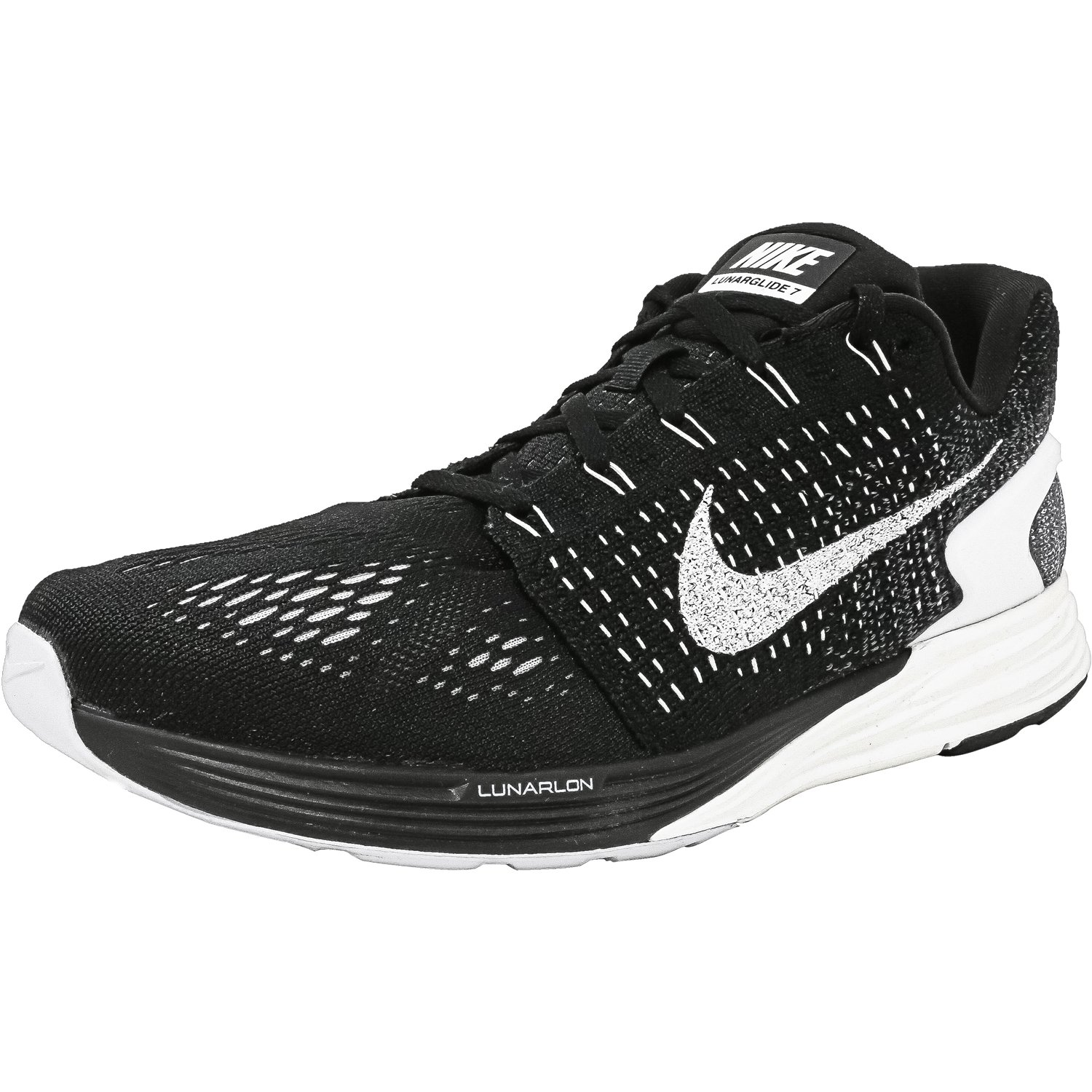 Nike Men's Lunarglide 7 Black / Summit White-Anthracite A...