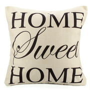 Decorative Throw Pillow Case Cushion Cover 18x18 inch Square Zipper Waist Pillowcase Pillow Protector Slip Cases Sham for Couch Sofa Home Bedroom Bed Patio Chair - Home Sweet Home