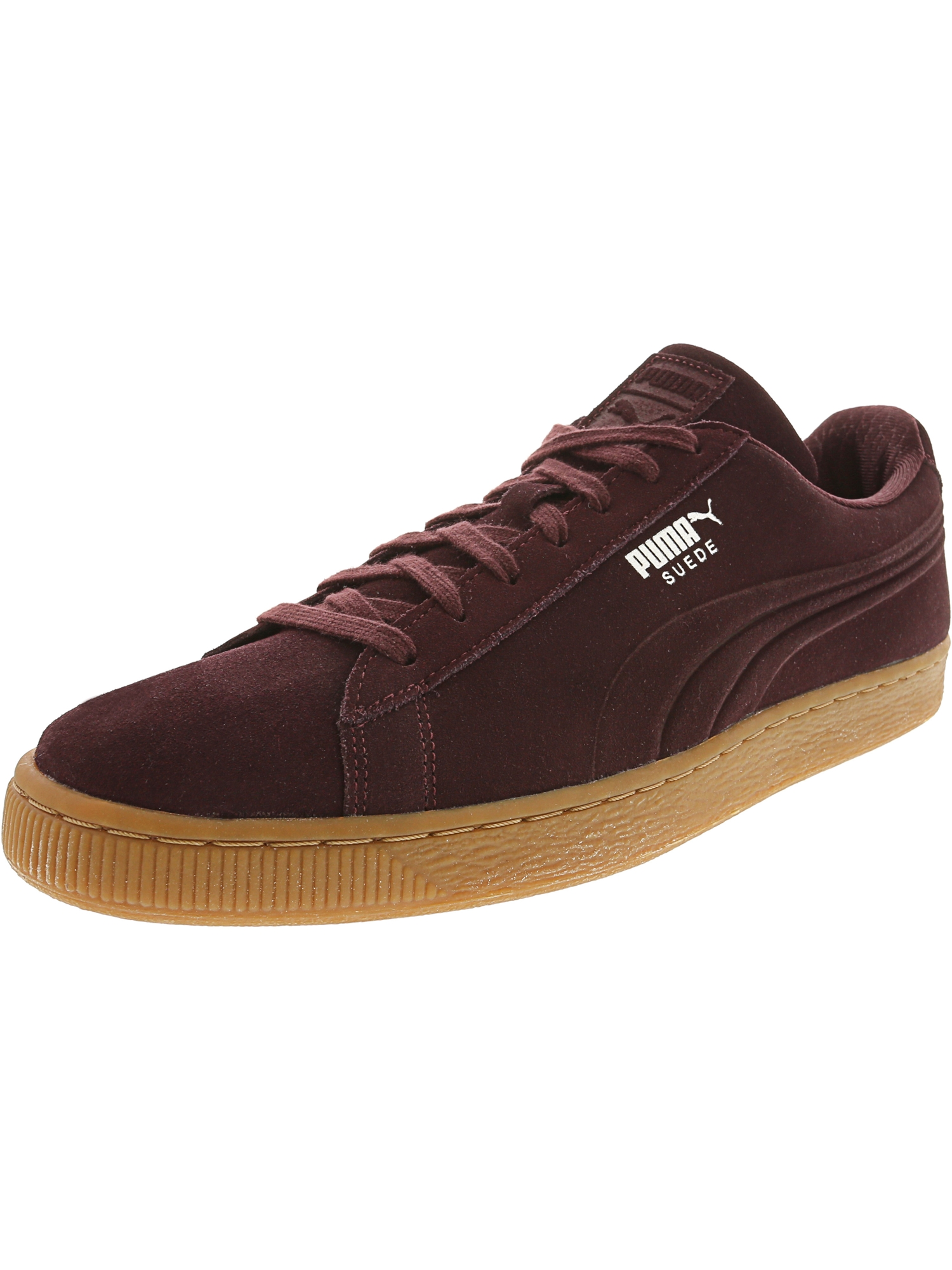 Puma Men's Suede Classic Debossed Q4 Winetasting / Lilac Snow Ankle-High Fashion Sneaker - 8M