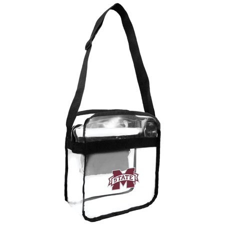 Little Earth - NCAA Clear Carryall Cross Body Bag, Mississippi State Bulldogs