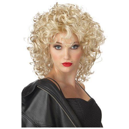 Adult The Bad Girl Blonde Wig - Grease Sandy Wig