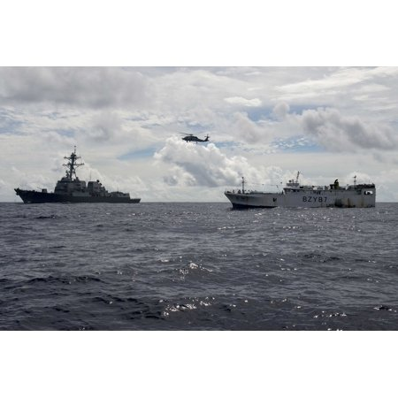 Canvas Print Sailors assigned to the guided-missile destroyer USS Spruance (DDG 111), and Coast Guardsmen from Co Stretched Canvas 10 x 14 (Spruance Destroyer)