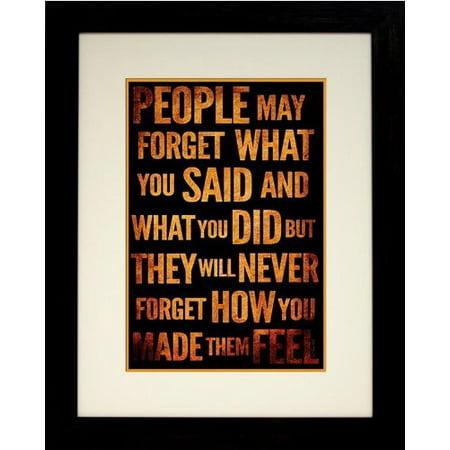 FRAMED Feelings by 24x18 Art Susan Ball Art Print Poster Motivational Inspirational Typography GREAT ART PEN SB120
