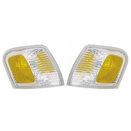 Go-Parts PAIR/SET - OE Replacement for 2001 - 2003 Ford Explorer Corner Lights Assemblies / Lens Cover - Left & Right (Driver & Passenger) Replacement For Ford