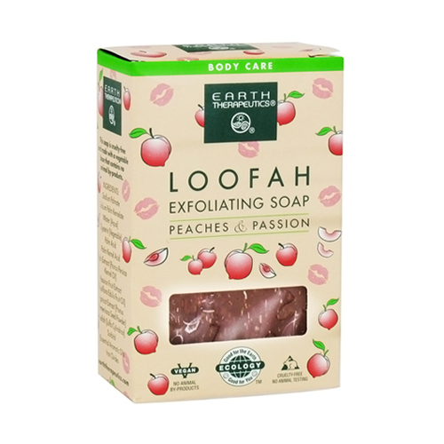 Earth Therapeutics Loofah Peach And Passion Exfoliating Soap - 4 Oz