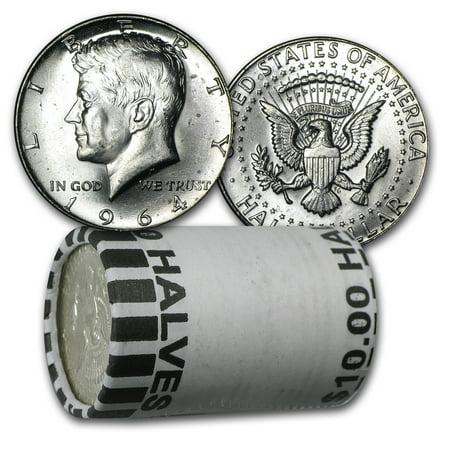 Kennedy Half Dollar Roll - 90% Silver 1964-P/D Kennedy Half Dollar 20-Coin Roll BU