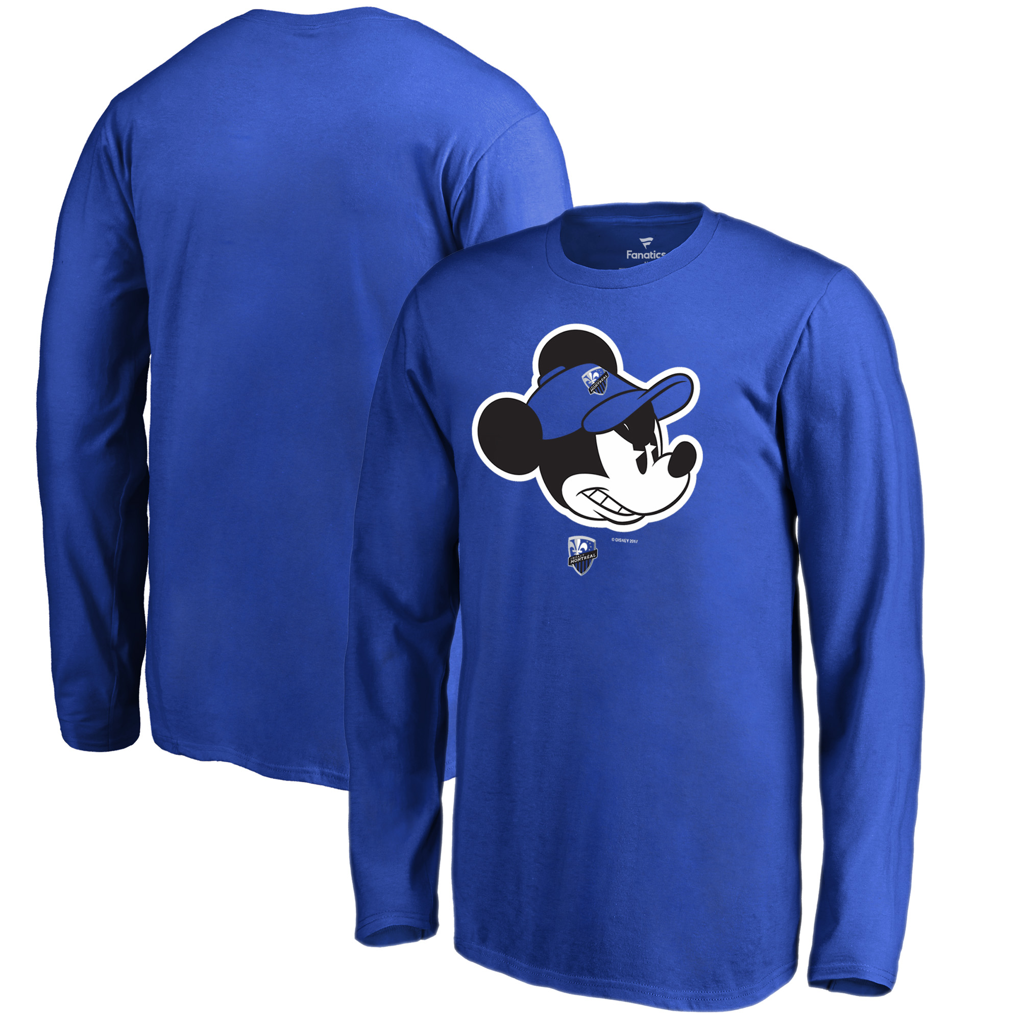 Montreal Impact Fanatics Branded Youth Disney Game Face Long Sleeve T-Shirt - Blue