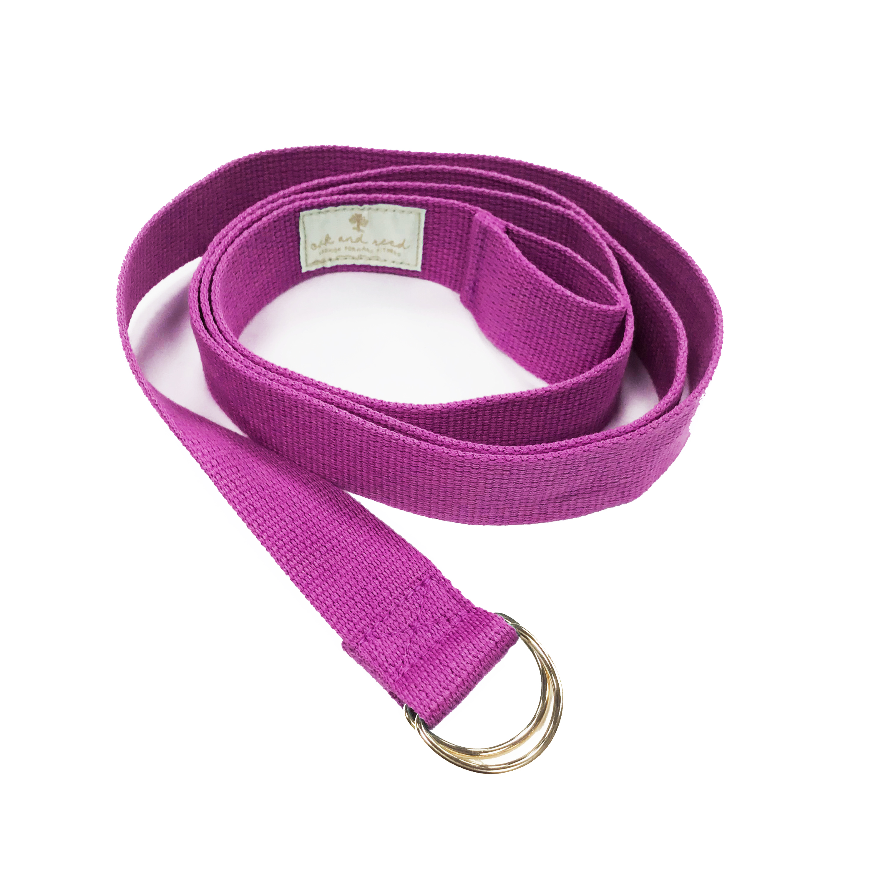 Oak and Reed 2-in-1 Yoga Strap & Mat Sling, Violet/Gold, 100% Cotton