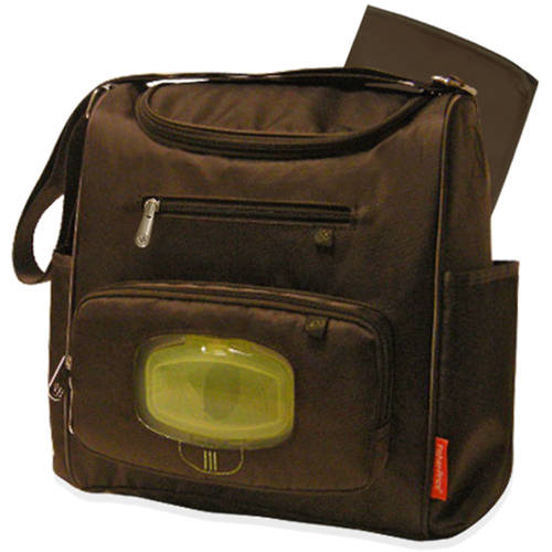 Fisher-Price Brown Midsize Diaper Bag