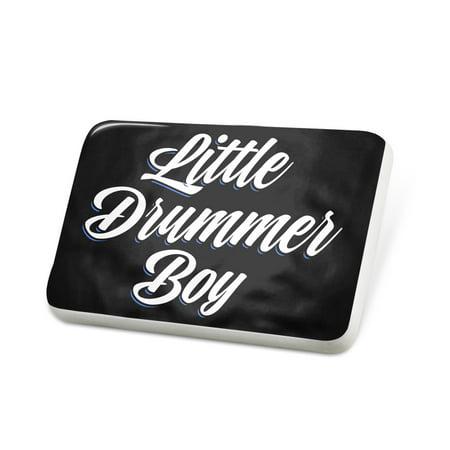 Porcelein Pin Classic design Little Drummer Boy Lapel Badge – - Little Drumer Boy