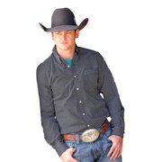 Cinch Western Shirt Mens Long Sleeve Modern Weave Black MTW1330017