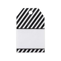 Black Stripes Printed Gift Tags - 2 1/4in. x 3 1/2in. - 50 Pack