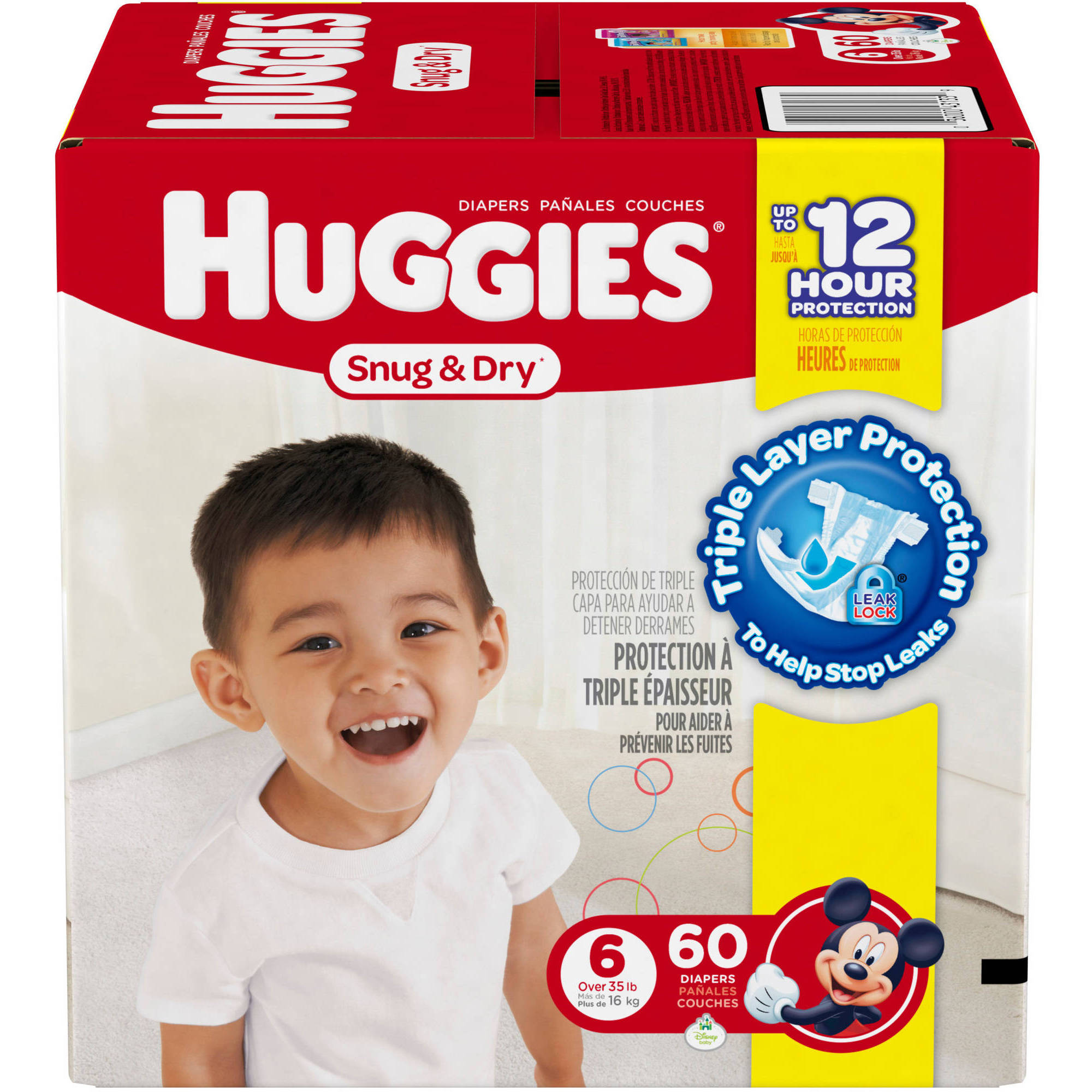 HUGGIES Snug & Dry Diapers, Size 6 (Choose Diaper Count)
