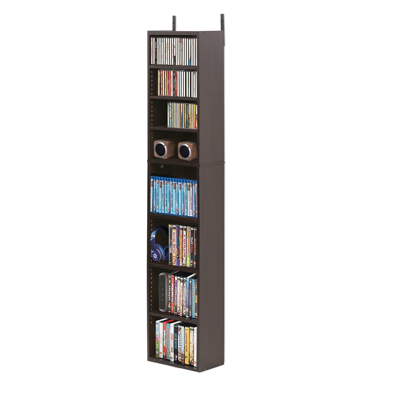 Furinno Indo 7-Tier Media Tower, Espresso 16074EX