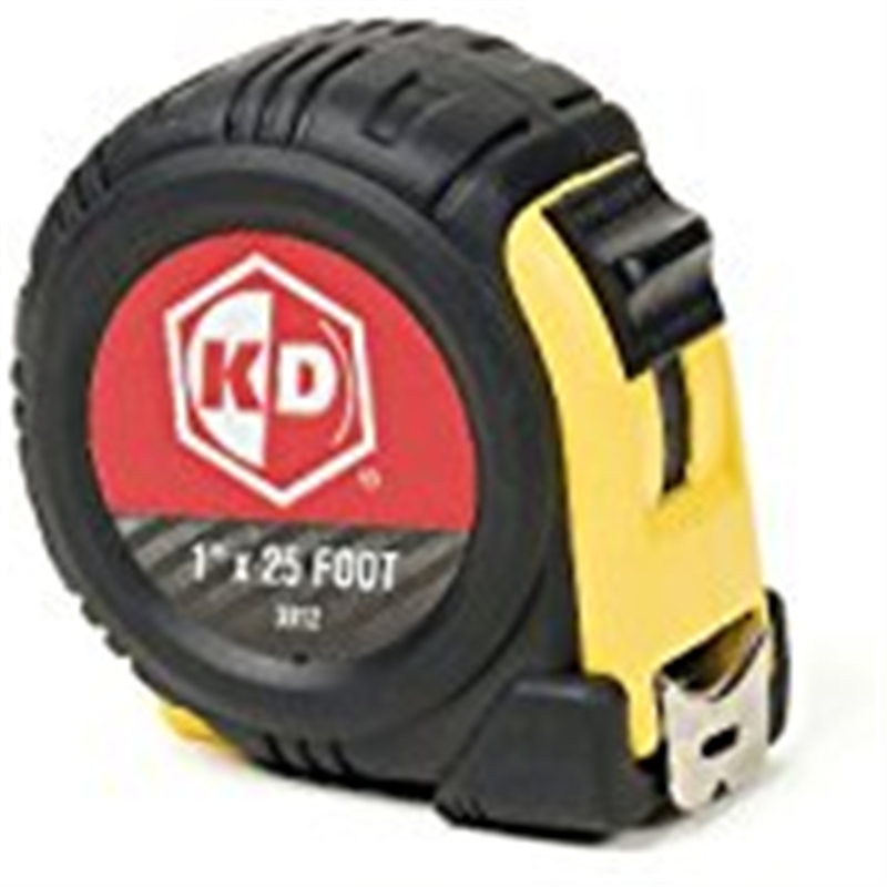 KD Tools 3012 25 foot Tape Measure (Yellow and Black Case)
