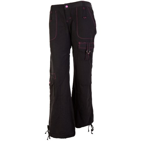 Kikgirl Kikgirl Black Nylon Commander Juniors Pants Walmart