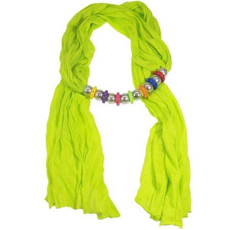 Bohemian Style Beads Jewelry Scarf Neon