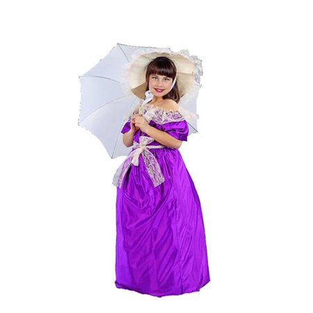 RG Costumes 91119-V-M Southern Bell Child Costume - Purple - Size M - Southern Comfort Costume