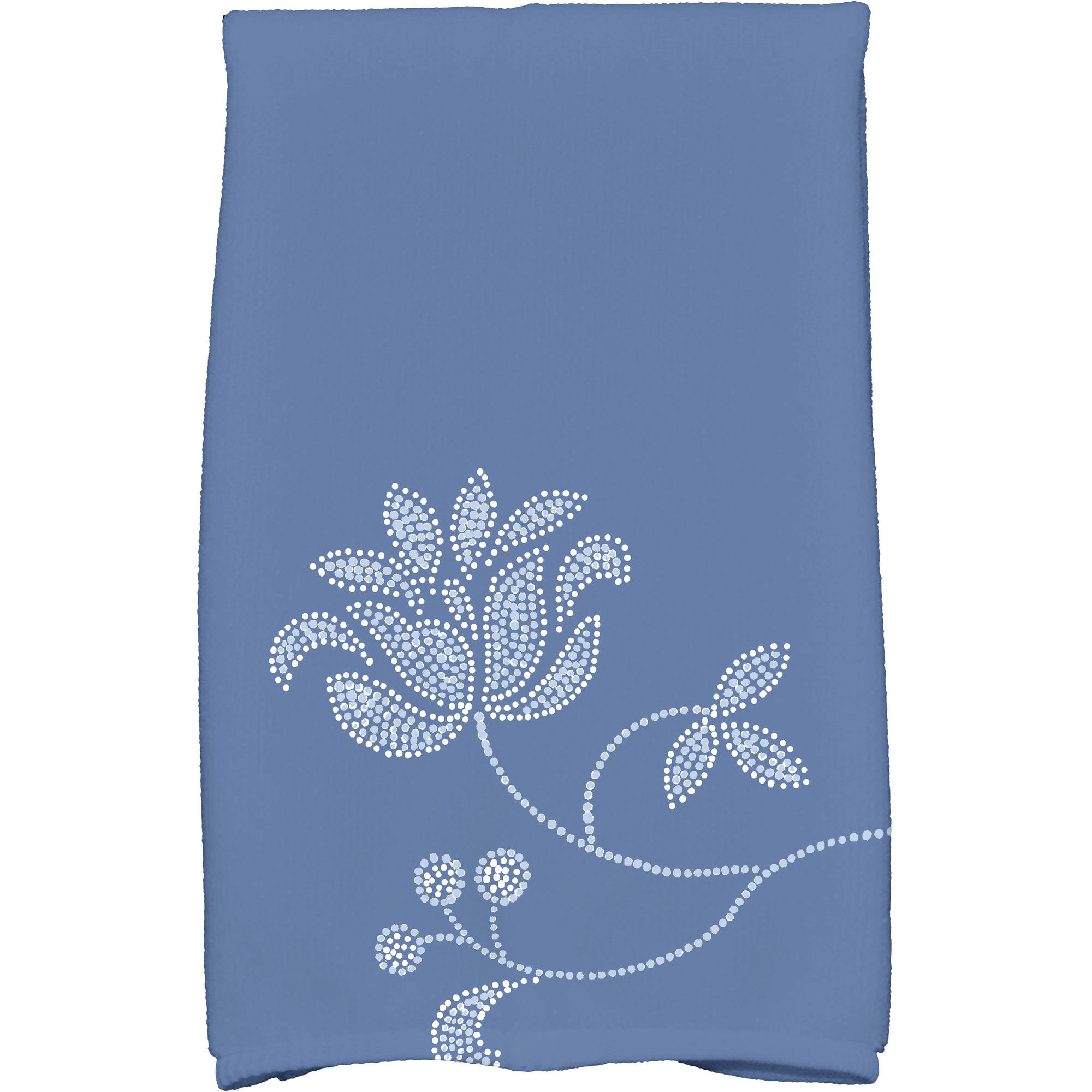 "Simply Daisy 16"" x 25"" Traditional Flower Single Bloom Floral Print Kitchen Towel"