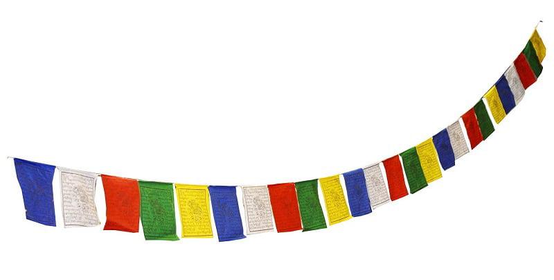 Tibetan Prayer Flags 25 Panels 15 Ft Long