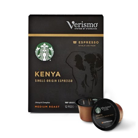 Single Serve Espresso (Starbucks Verismo Kenya Single-Origin Espresso Single Serve Verismo Pods, Medium Roast, 72)