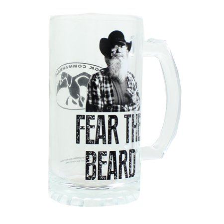 Duck Commander Si Fear The Beard Clear Beer Mug