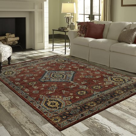 Mainstays Rustic Multi Persian Medallion Print Area Rug or Runner