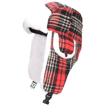 2c145fcc2d7da Best Winter Hats - Best Winter Hats Big Kids Quality Tartan Plaid Russian Trapper  Hat W Faux Fur (One Size) - Red - Walmart.com