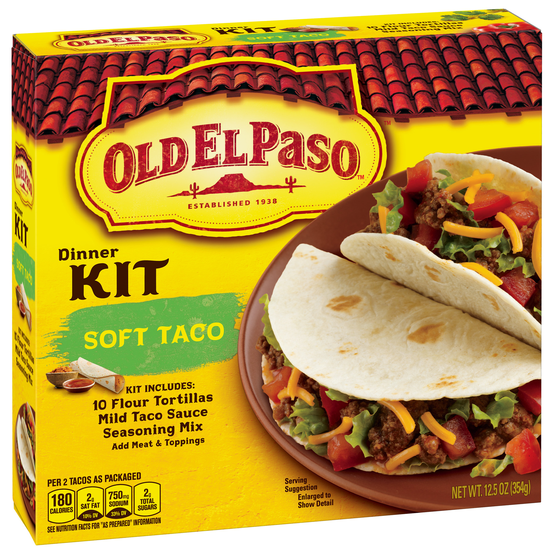 Old El Paso Soft Taco Dinner Kit, 12.5 oz