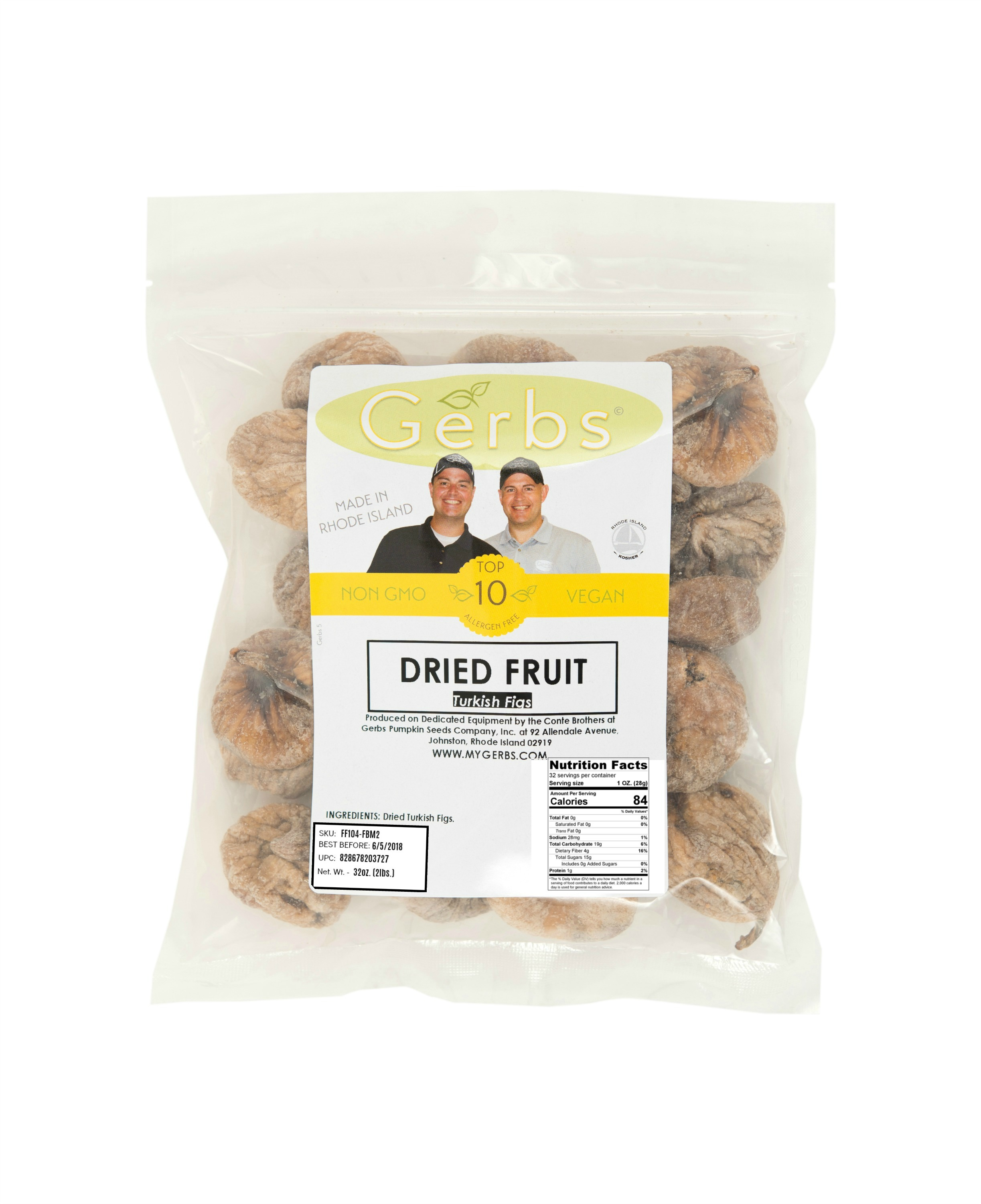 Dried Whole Figs by Gerbs 2 LBS Preservative Free Top 12 Food Allergen Friendly & NON GMO... by Gerbs Allergen Friendly Foods