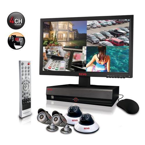 Revo America R44D2EB2EM18S-1T Professional 4 channel DVR