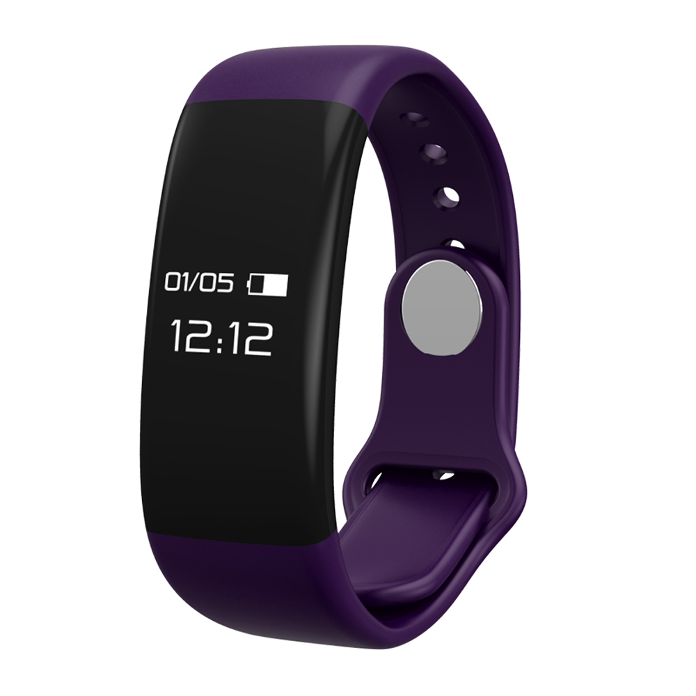 TechComm Y30 Water - resistant Fitness Activity Tracker with Heart Rate Monitor, Bluetooth, Call and Text Notifications, Pedometer, Sedentary Reminder, Sleep Monitor and Remote Camera  -  Purple
