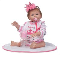 """Crown Cloth Europe and America Fashionable Play House Toy Lovely Simulation Baby Doll with Clothes Size 18"""""""