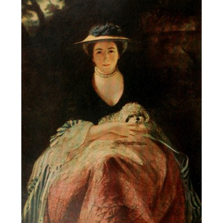 Reynolds 1913 Miss Nelly OBrien Stretched Canvas - Joshua Reynolds (24 x 36)