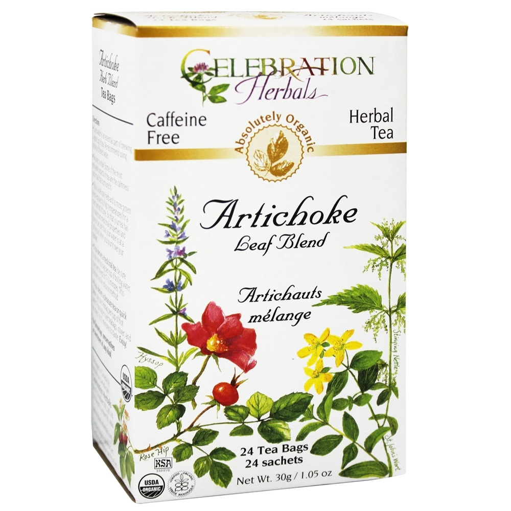 Celebration Herbals Organic Tea Artichoke Leaf Blend 24 Tea Bags by Celebration Herbals