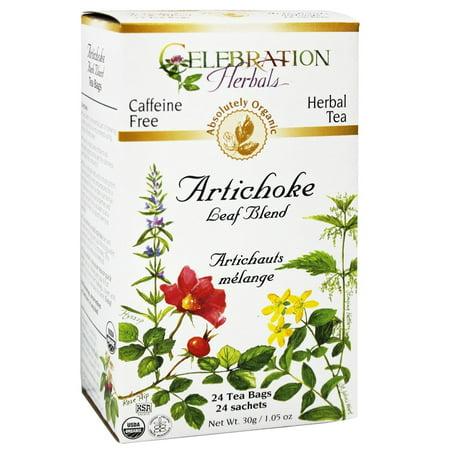 Celebration Herbals Thé bio Artichaut Feuille Blend 24 sachets de thé