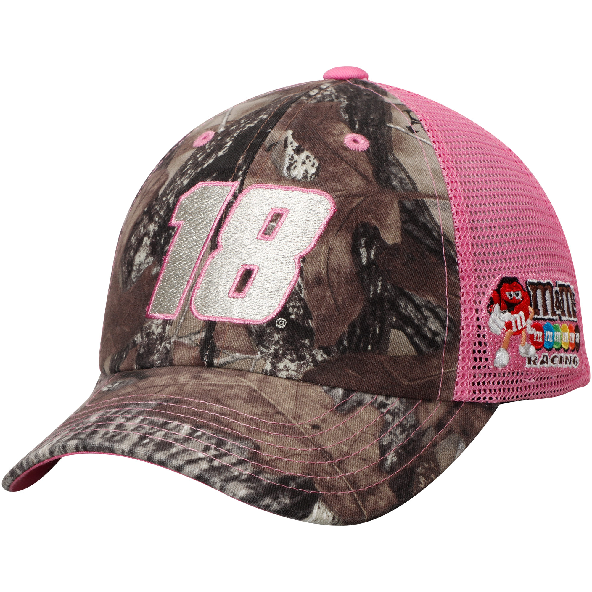Kyle Busch Checkered Flag Girls Youth True Timber Pretty 'N Pink Adjustable Hat - Camo/Pink - OSFA